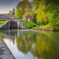 Buy canvas prints of Bingley Five Rise Locks by nick hirst