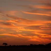 Buy canvas prints of Sunset Over North Norfolk by Digitalshot Photography