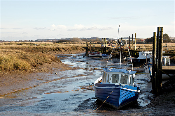 Awaiting the tide at Thornham Framed Mounted Print by Fiona Geldard