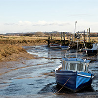 Buy canvas prints of Awaiting the tide at Thornham by Fiona Geldard