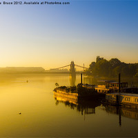 Buy canvas prints of Dawn in Hammersmith by Matthew  Bruce