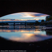 Buy canvas prints of Putney Bridges - early morning by Matthew  Bruce