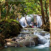 Buy canvas prints of Erawan Falls by Matthew  Bruce