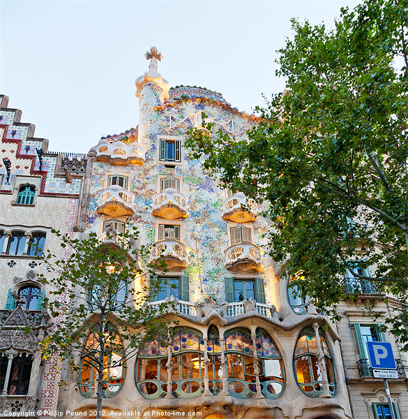 Casa Batllo Building in Barcelona Framed Mounted Print by Philip Pound