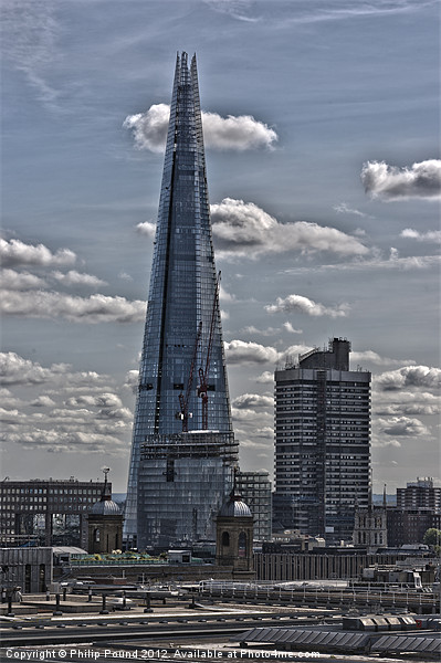 The Shard London Canvas print by Philip Pound