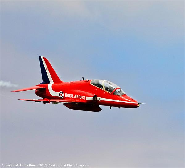 Red Arrows Hawk Jet Canvas Print by Philip Pound