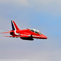 Buy canvas prints of Red Arrows Hawk Jet by Philip Pound