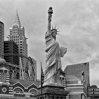 Buy canvas prints of New York Las Vegas USA by Philip Pound