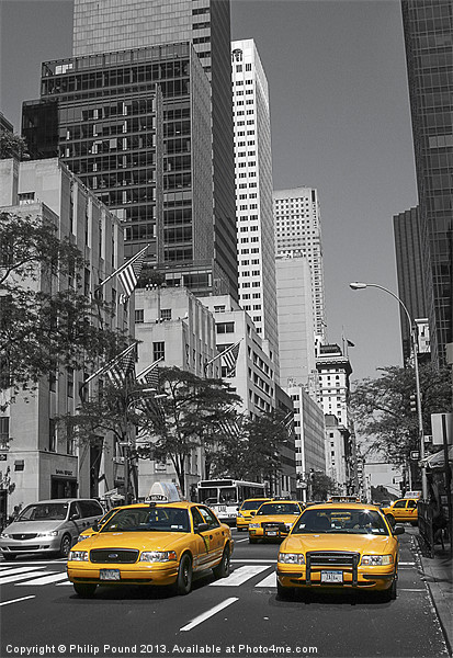 New York Yellow Cabs Canvas print by Philip Pound