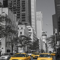 Buy canvas prints of New York Yellow Cabs by Philip Pound
