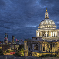 Buy canvas prints of St Paul's Cathedral in London at Night by Philip Pound