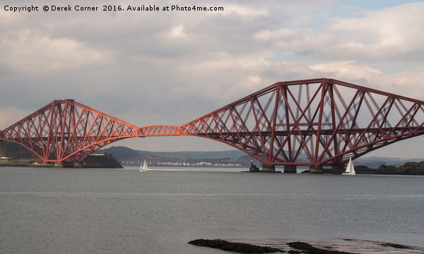 Forth Bridge Canvas Print by Derek Corner