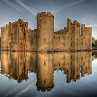Buy canvas prints of Bodiam Castle by mark leader