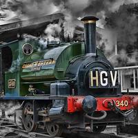 Buy canvas prints of GWR Saddle Tank
