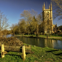 Buy canvas prints of Church of St Lawrence Hungerford by Ian Lewis