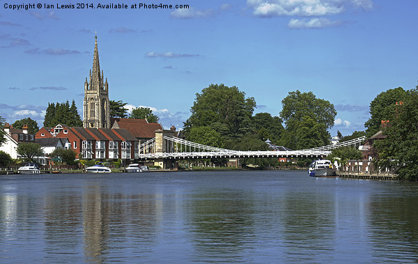 The River Thames At Marlow Canvas print by Ian Lewis