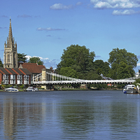 Buy canvas prints of The River Thames At Marlow by Ian Lewis