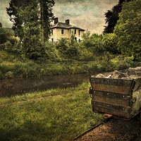 Buy canvas prints of  Talybont Canal And Tramway Truck by Ian Lewis