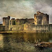 Buy canvas prints of Caerphilly's Stronghold by Ian Lewis