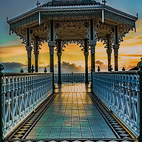 Buy canvas prints of The Victorian Bandstand at Brighton by Ian Lewis