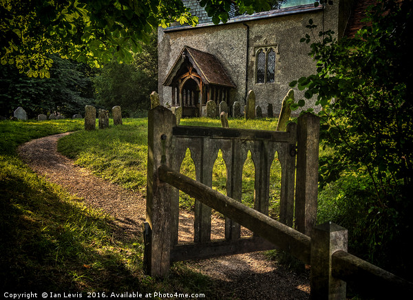 The Path To Ibstone Church Canvas print by Ian Lewis