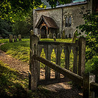 Buy canvas prints of The Path To Ibstone Church by Ian Lewis