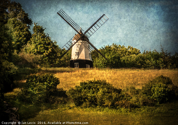 Cobstone Windmill Above Turville Canvas print by Ian Lewis
