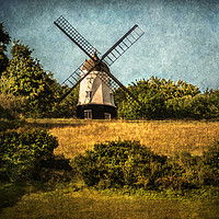 Buy canvas prints of Cobstone Windmill Above Turville by Ian Lewis