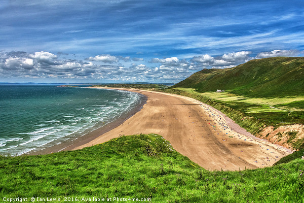 Rhossili Bay On The Gower Peninsula Canvas print by Ian Lewis