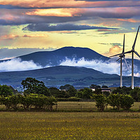 Buy canvas prints of The Northern Fells At Sunset by Ian Lewis