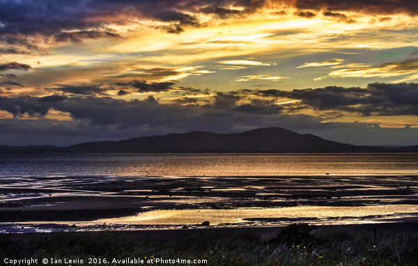 Evening Light Over The Solway Firth Print by Ian Lewis