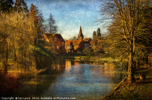 Whitchurch on Thames Print by Ian Lewis