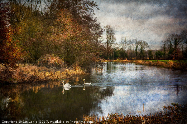 Winter Scene On The Kennet And Avon Canvas print by Ian Lewis