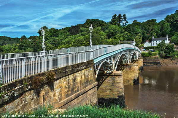 Bridge Over The River Wye Framed Mounted Print by Ian Lewis