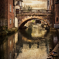 Buy canvas prints of The Water Bridge In Newbury by Ian Lewis