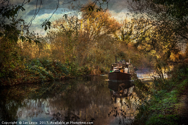 Narrowboat On The Kennet And Avon Canvas print by Ian Lewis