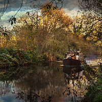 Buy canvas prints of Narrowboat On The Kennet And Avon by Ian Lewis