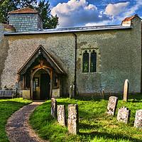 Buy canvas prints of St Nicholas Church Ibstone by Ian Lewis