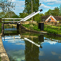 Buy canvas prints of Aubreys Lift Bridge  At Thrupp by Ian Lewis