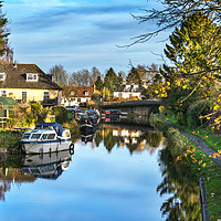 Buy canvas prints of Towpath Into Hungerford by Ian Lewis