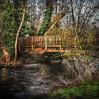 Buy canvas prints of Footbridge Over The River Kennet by Ian Lewis