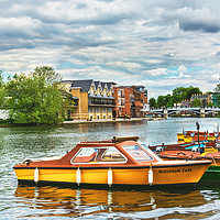 Buy canvas prints of Boats For Hire At Windsor by Ian Lewis