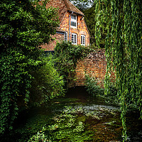 Buy canvas prints of House By The River by Ian Lewis