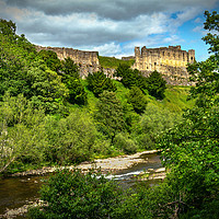 Buy canvas prints of Richmond Castle Above The Swale by Ian Lewis