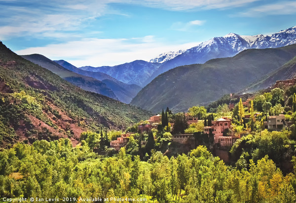The Atlas Mountains Morocco Canvas print by Ian Lewis
