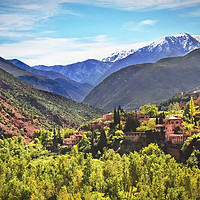 Buy canvas prints of The Atlas Mountains Morocco by Ian Lewis