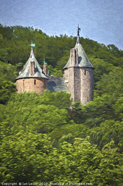 Castell Coch Impressionist Style Canvas print by Ian Lewis