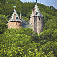 Buy canvas prints of  Castell Coch Impressionist Style by Ian Lewis