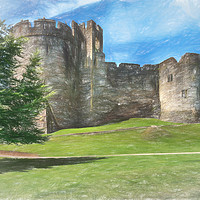 Buy canvas prints of Chepstow Castle Towers Art by Ian Lewis