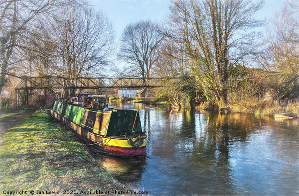 Winter On The Kennet Canvas print by Ian Lewis